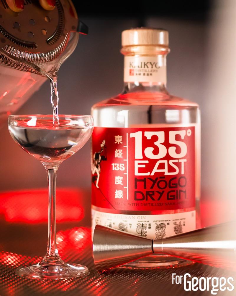 East 135 Gin japonais cocktail