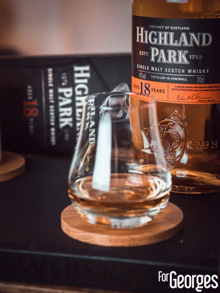 Bouteille Highland Park 18 ans dégustation