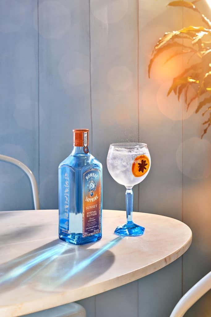 Bombay Sapphire Sunset  en gin tonic